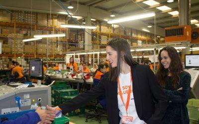 Carolina Rodriguez, exgimnasta olímpica visita las instalaciones de Soltra