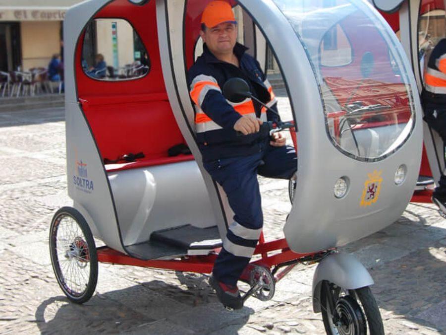 SOLTRA estrena Ciclotour, un triciclo ecológico por las calles de León