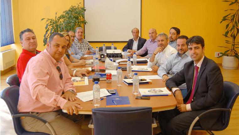 La Junta Directiva del Círculo Empresarial Leonés en SOLTRA