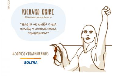 Richard Oribe, un ejemplo de superación. Nadador paralímpico