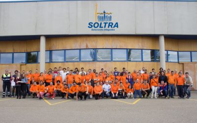 Visit of Abanca Ademar handball team to SOLTRA facilities