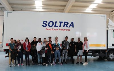 The Juan Soñador School visits the SOLTRA facilities in La Virgen del Camino