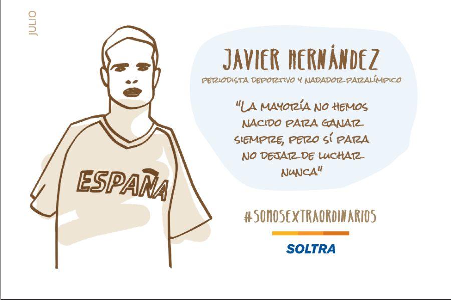 Javier Hernandez, «De los pies a la Cabeza»  Periodista deportivo y nadador