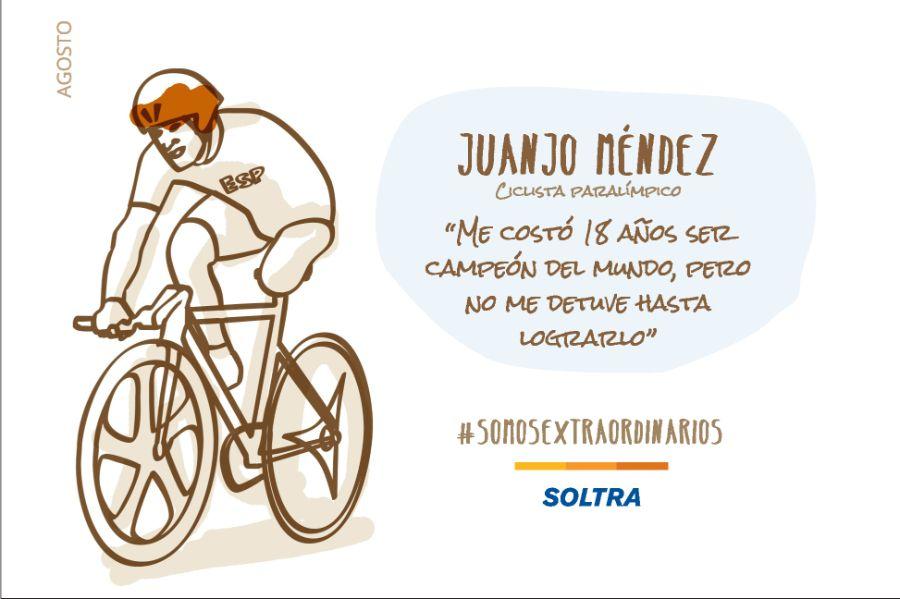 Juanjo Méndez, el conseguidor de sueños. Ciclista paralímpico
