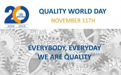 Everybody, everyday. We are quality. World Quality Day