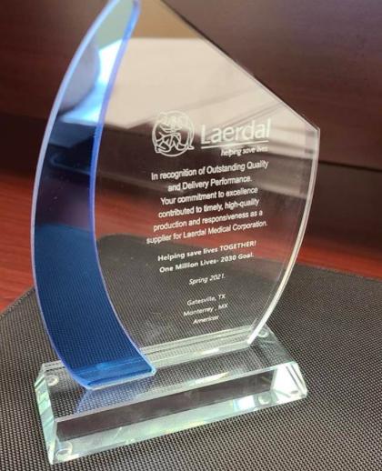 CINIA recibe el galardón como proveedor estratégico de  Laerdal Medical Corporation