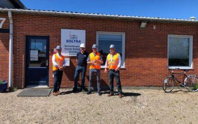 Visita de la comunidad de Ringkøbing a las instalaciones de SOLTRA