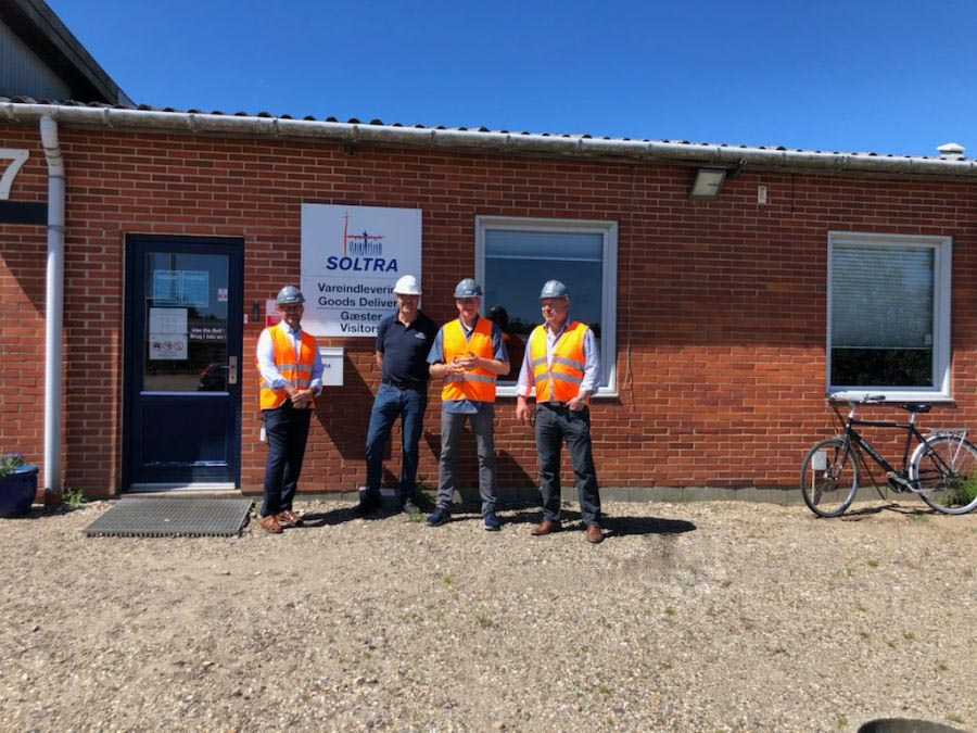 Visit of Ringkøbing-Skjern community to SOLTRA facilities in Denmark